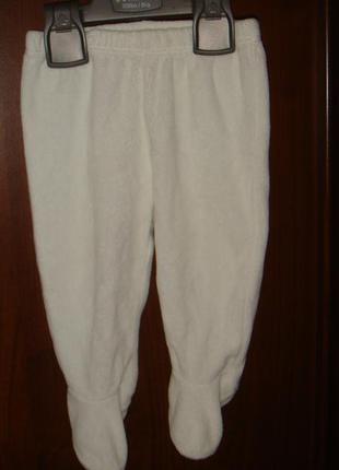 Теплые велюровые ползуны, штаны mothercare на 3-6 месяцев