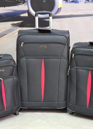 Дорожный чемодан на 2 колесах wings 1601 poland  новинка