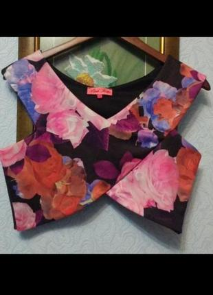Топ с цветочным принтом pink joda