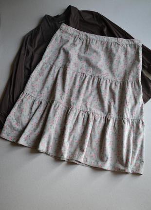 Вельветовая юбка миди большой размер 3xl-4xl  100% хлопок  george