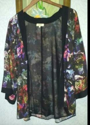 Красивая эффектная блуза  кимоно накидка