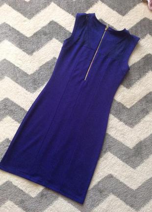 Синє (ультрамарин) трикотажне плаття top secret