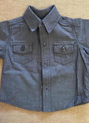 Рубашка на модника 0-3 мес