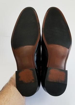 Мужские черные туфли броги5 фото