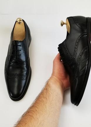 Мужские черные туфли броги3 фото