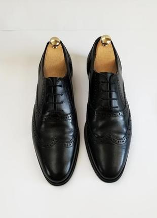 Мужские черные туфли броги2 фото