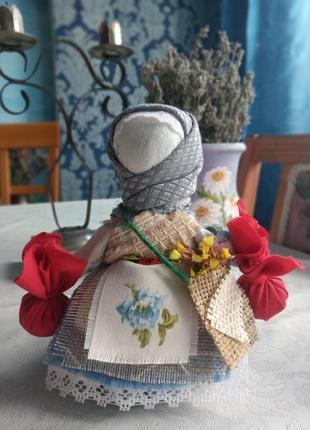 Лялька мотанка,кукла мотанка кубишка травниця-16/16 см