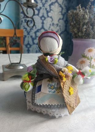 Кукла мотанка ,лялька мотанка кубишка травниця-14/15 см