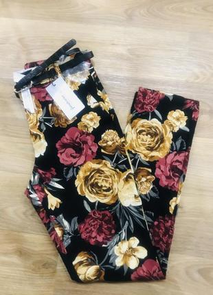 Шикарные брюки с поясом/классические брюки в актуальный принт