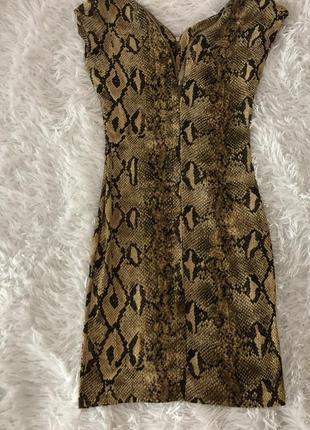 Платье-змея на молнии