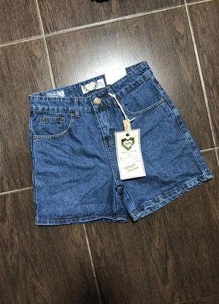 Новые джинсовые шорты база высокая посадка