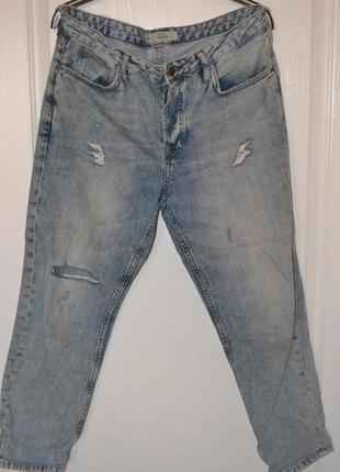 Topshop джинсы светло коричневые как бойфренды