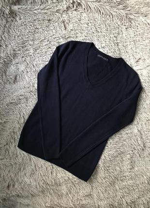 Синий свитерок пуловер
