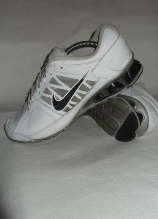 Кожаные кроссовки nike reax run 472774-100 оригинал