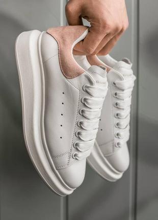 Кроссовки женские alexander mcqueen white\rose