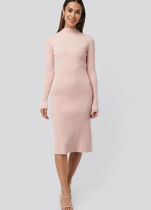 Распродажа! скидка! новое платье миди в рубчик