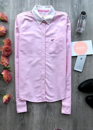 Крутая нежно розовая рубашка hollister