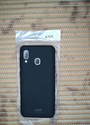 Samsung a30 чехол черный