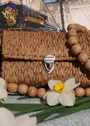 Соломенная сумочка, сумочка из рафии