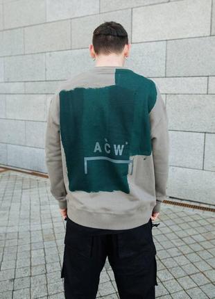 A-cold-wall block painted sweatshirt grey свитшот