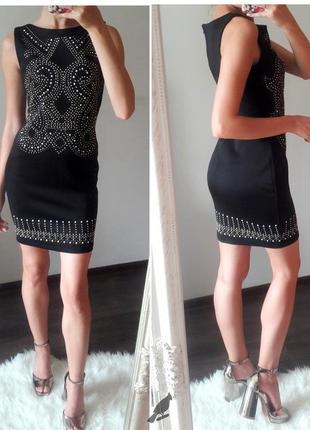 Incity s размер вечернее платье футляр с узором черное до колен на молнии
