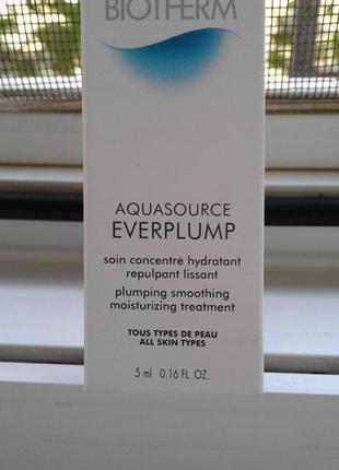 Лечебный увлажняющий крем-гель для кожи лица biotherm aquasource everplump 5 мл