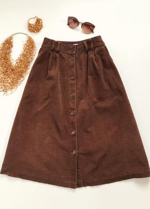 Велюровая юбка длины миди