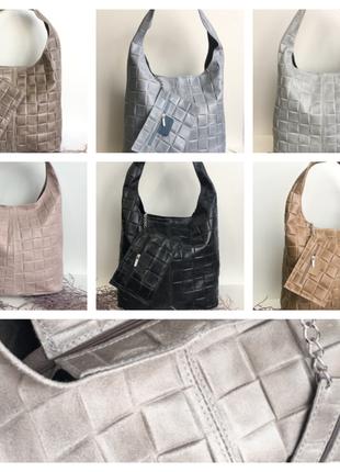 Шоппер кожа, италия, сумка женская genuine leather5 фото
