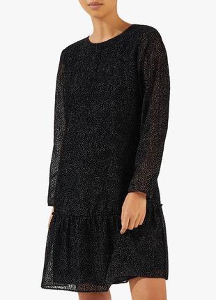 Jigsaw новое платье вельветовое в горошек прямое стильное летнее легкое