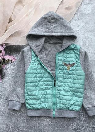 Утеплённая толстовка, куртка для девочки