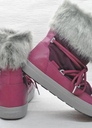 Зимние сапоги crocs lodge point lace snow boot