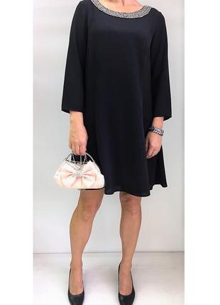Платье нарядное классика осень на подкладке свободный крой с-м