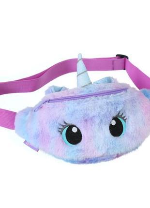Детская поясная сумочка бананка единорог  unicorn