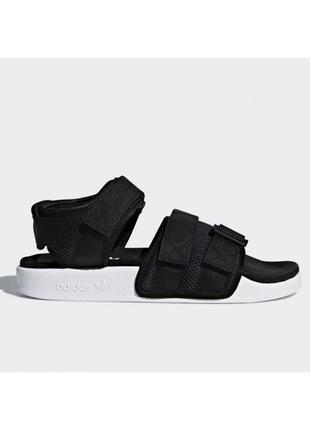 Женские сандали черные adidas adilette sandal black адидас адилет босоножки с сеткой