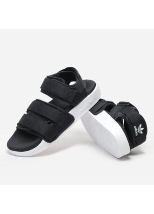 Женские сандали черные adidas adilette sandal black адидас адилет босоножки без сетки
