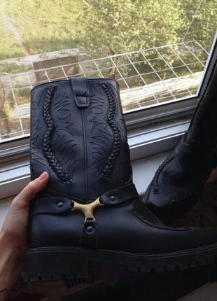 Сапоги / ботинки / ботинки высокие / натуральная кожа