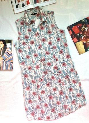 Платье льняное, платье халат, esmara, германия