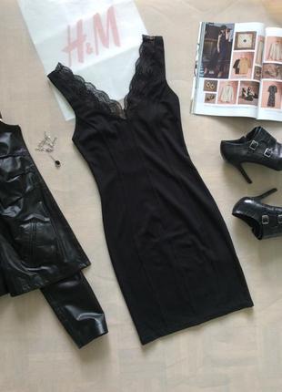 Платье коктейльное с кружевом, h&m