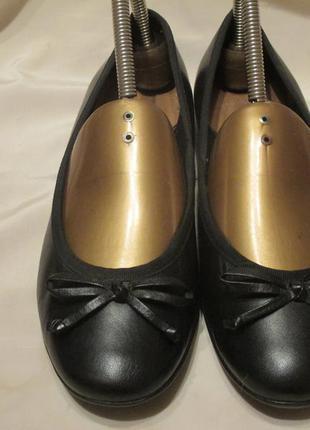 Туфли, балетки известного английского бренда clarks р.38.5 оригинал.