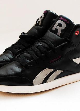 Кожаные хайтопы ботинки  reebok fabulista mid. размер 41