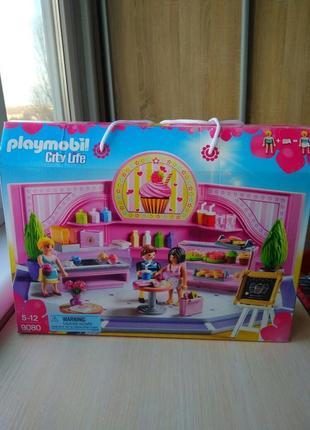 Playmobil 9080 cupcake shop cafe конструктор плеймобиль игровой набор магазин кексов