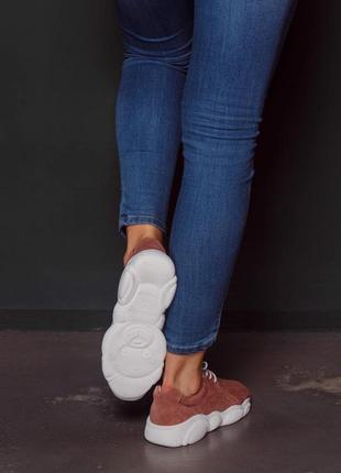 Мягкие лёгкие  кроссовки из натуральной замши2 фото