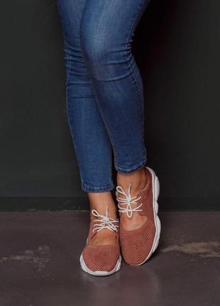 Мягкие лёгкие  кроссовки из натуральной замши3 фото