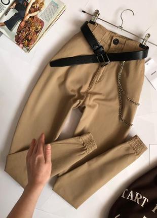 Новые обалденные брюки джоггеры с высокой посадкой cropp