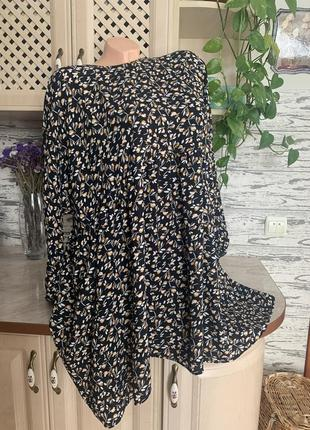 Стильное  платье оверс сайте m-xl свободного кроя