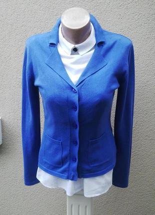 Тонкий,трикотажный кардиган,кофта(джемпер)жакет,пиджак,на застежке,хлопок 100%,1
