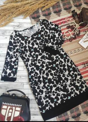 Платье миди с длинным рукавом цветочный принт f&f