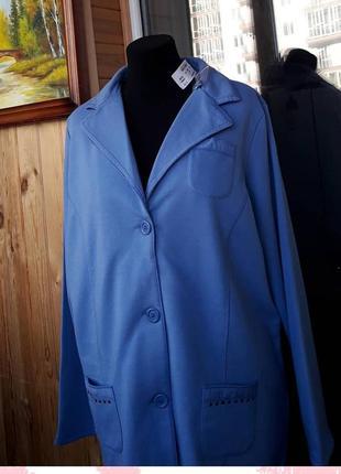 Стильный трикотажный пиджак laura kent