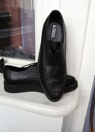 Кожаные туфли / броги / оксфорды topshop 100% кожа