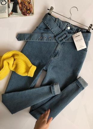 Новые обалденные джинсы с высокой посадкой/поясом cropp